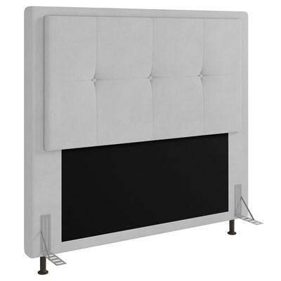 Cabeceira Cama Box Casal 140cm D10 Ametista Corano Branco - Mpozenato