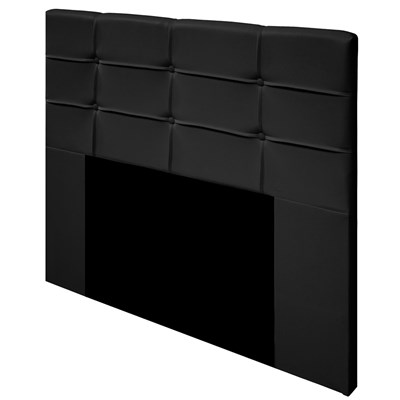 Cabeceira Cama Box Casal 140cm D10 Esmeralda Suede Preto - Mpozenato