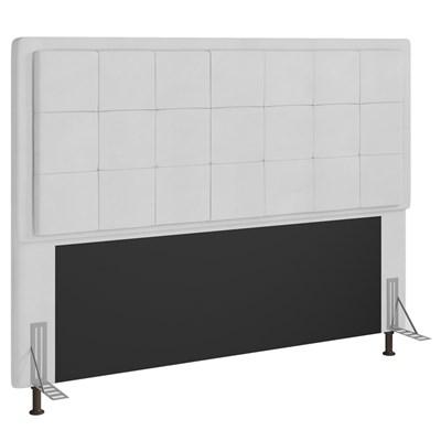 Cabeceira Cama Box Casal 140cm D10 Ônix Corano Branco - Mpozenato