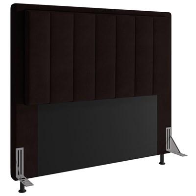 Cabeceira Cama Box Casal 140cm D10 Opala Corano Marrom - Mpozenato