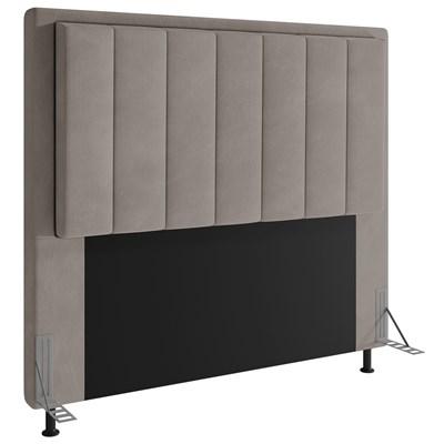Cabeceira Cama Box Casal 140cm D10 Opala Suede Bege - Mpozenato