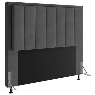 Cabeceira Cama Box Casal 140cm D10 Opala Suede Cinza - Mpozenato
