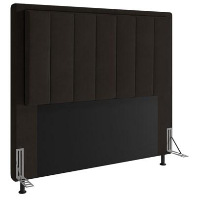 Cabeceira Cama Box Casal 140cm D10 Opala Suede Marrom - Mpozenato