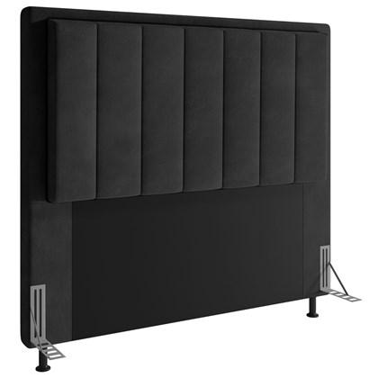 Cabeceira Cama Box Casal 140cm D10 Opala Suede Preto - Mpozenato