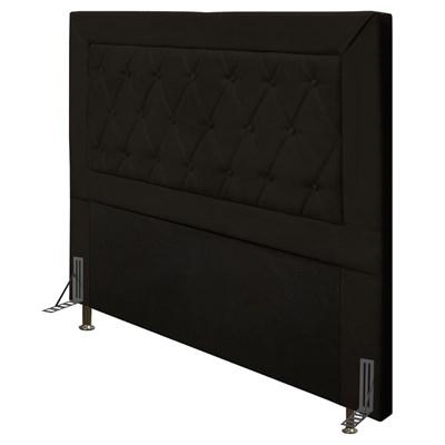 Cabeceira Cama Box Casal 140cm D10 Turmalina Suede Marrom - Mpozenato