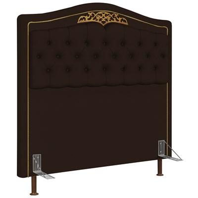 Cabeceira Cama Box Casal 140cm Imperial J02 Corano Marrom Escuro - Mpozenato