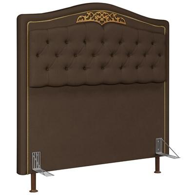 Cabeceira Cama Box Casal 140cm Imperial J02 Suede Chocolate - Mpozenato