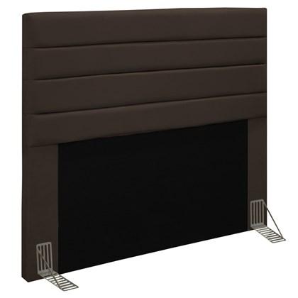Cabeceira Cama Box Casal 140cm Rubi D10 Suede Marrom - Mpozenato