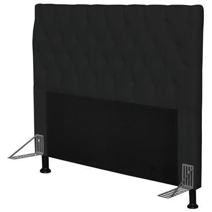 Cabeceira Cama Box Casal 160cm Cristal Corino Preto - JS Móveis
