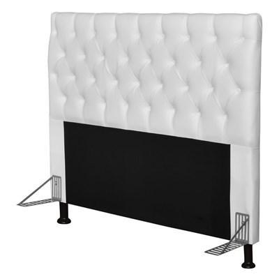 Cabeceira Cama Box Casal 195cm Cristal Corano Branco - JS Móveis