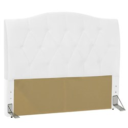 Cabeceira Cama Box Casal King 195 cm Colônia Corano Branco - D'Monegat