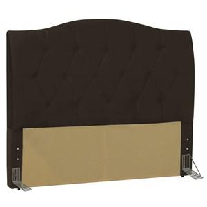 Cabeceira Cama Box Casal King 195 cm Colônia Corano Marrom - D'Monegatto