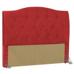 Cabeceira Cama Box Casal King 195 cm Colônia Corano Vermelho - D'Moneg