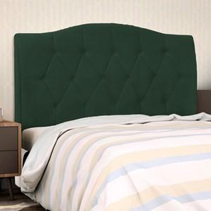 Cabeceira Cama Box Casal King 195 cm Colônia Suede Verde Musgo - D'Monegatto