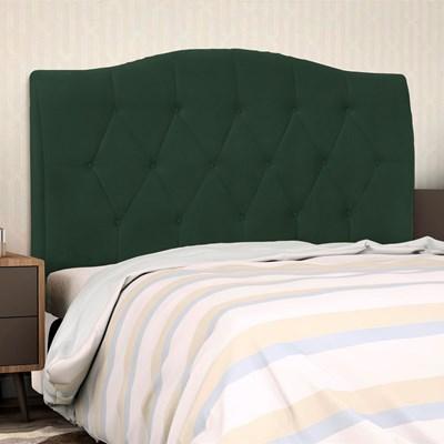 Cabeceira Cama Box Casal King 195cm Colônia Suede Verde Musgo - D'Monegatto
