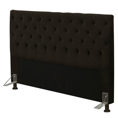 Cabeceira Cama Box Casal King 195cm Cristal Suede Chocolate - JS Móveis
