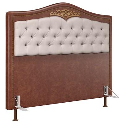 Cabeceira Cama Box Casal King 195cm Imperial J02 Facto Marrom/Bege - Mpozenato