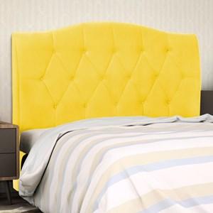 Cabeceira Cama Box Casal Queen 160 cm Colônia Corino Amarelo - D'Monegatto