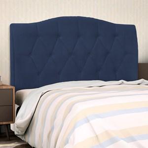 Cabeceira Cama Box Casal Queen 160 cm Colônia Suede Azul Marinho - D'Monegatto