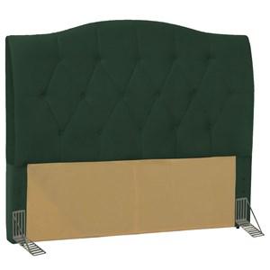 Cabeceira Cama Box Casal Queen 160 cm Colônia Suede Verde Musgo - D'Monegatto