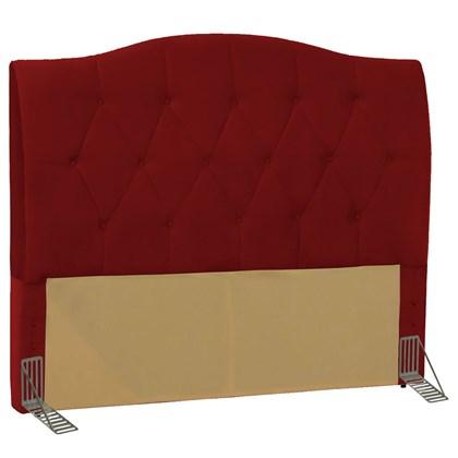 Cabeceira Cama Box Casal Queen 160 cm Colônia Suede Vermelho - D'Monegatto