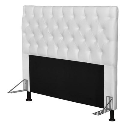Cabeceira Cama Box Casal Queen 160cm Cristal Corano Branco - JS Móveis