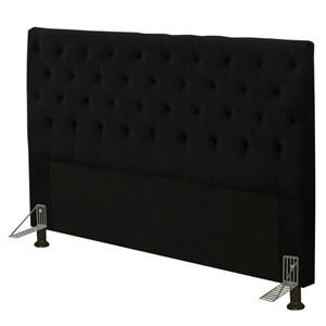 Cabeceira Cama Box Casal Queen 160cm Cristal Suede Preto - JS Móveis