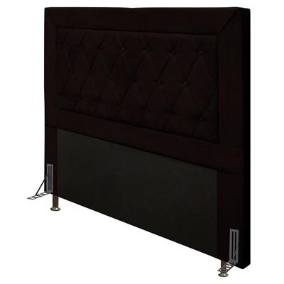 Cabeceira Cama Box Casal Queen 160cm D10 Turmalina Corano Marrom - Mpozenato