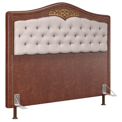 Cabeceira Cama Box Casal Queen 160cm Imperial J02 Facto Marrom/Bege - Mpozenato
