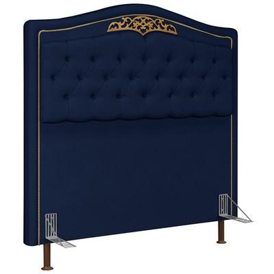 Cabeceira Cama Box Casal Queen 160cm Imperial J02 Suede Azul - Mpozenato
