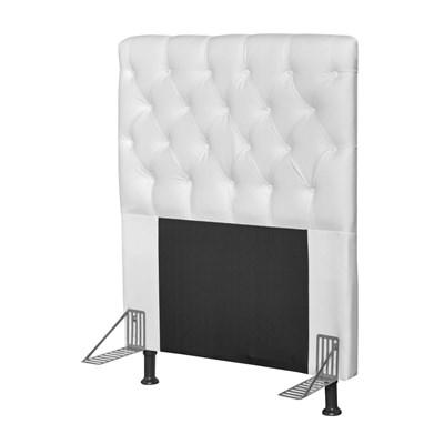Cabeceira Cama Box Solteiro 90cm Cristal Corano Branco - JS Móveis