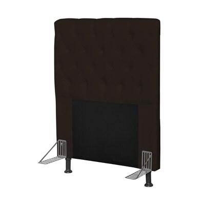 Cabeceira Cama Box Solteiro 90cm Cristal Corano Marrom - JS Móveis