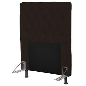Cabeceira Cama Box Solteiro 90cm Cristal Corino Marrom - JS Móveis