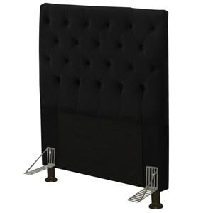 Cabeceira Cama Box Solteiro 90cm Cristal Suede Preto - JS Móveis