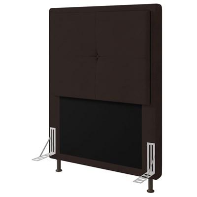 Cabeceira Cama Box Solteiro 90cm D10 Ametista Corano Marrom - Mpozenato