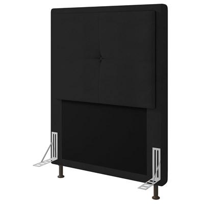Cabeceira Cama Box Solteiro 90cm D10 Ametista Corano Preto - Mpozenato