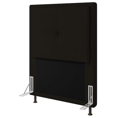 Cabeceira Cama Box Solteiro 90cm D10 Ametista Suede Marrom - Mpozenato