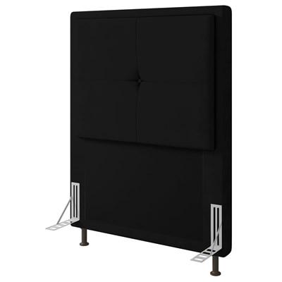 Cabeceira Cama Box Solteiro 90cm D10 Ametista Suede Preto - Mpozenato