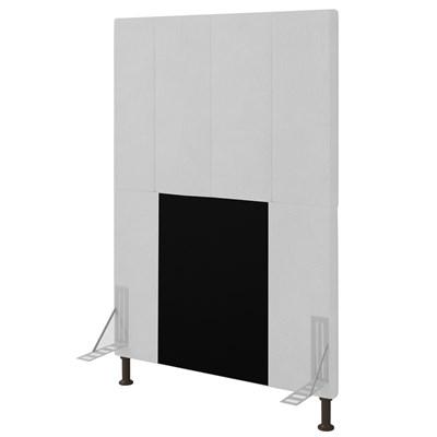 Cabeceira Cama Box Solteiro 90cm D10 Jade Corano Branco - Mpozenato