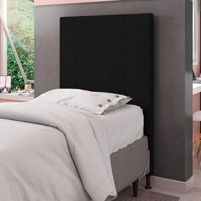 Cabeceira Cama Box Solteiro 90cm D10 Jade Corano Preto - Mpozenato