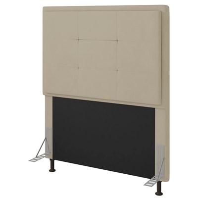 Cabeceira Cama Box Solteiro 90cm D10 Ônix Corano Bege - Mpozenato