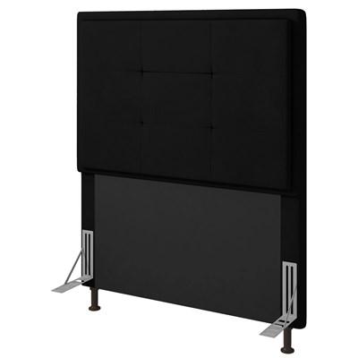 Cabeceira Cama Box Solteiro 90cm D10 Ônix Corano Preto - Mpozenato