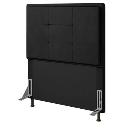 Cabeceira Cama Box Solteiro 90cm D10 Ônix Suede Preto - Mpozenato