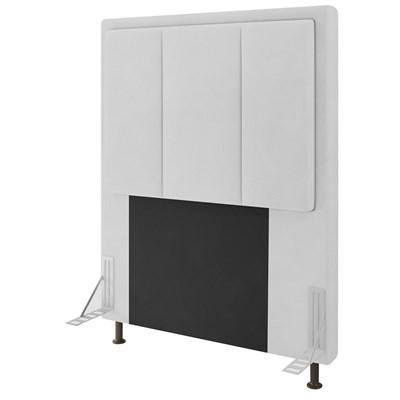 Cabeceira Cama Box Solteiro 90cm D10 Opala Corano Branco - Mpozenato