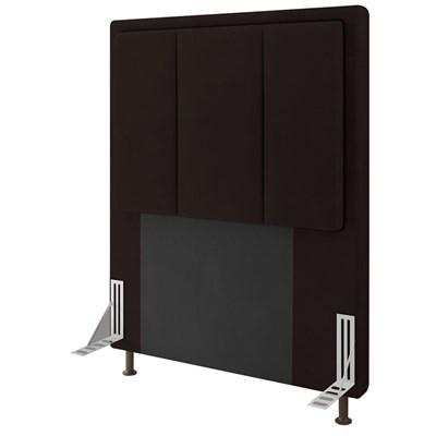 Cabeceira Cama Box Solteiro 90cm D10 Opala Corano Marrom - Mpozenato