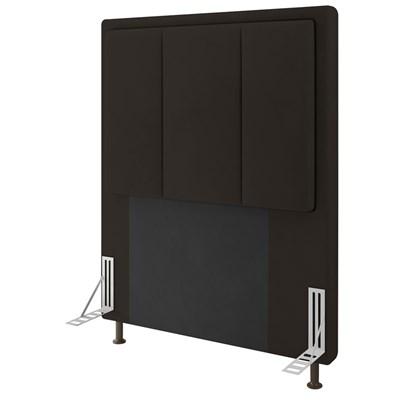 Cabeceira Cama Box Solteiro 90cm D10 Opala Suede Marrom - Mpozenato