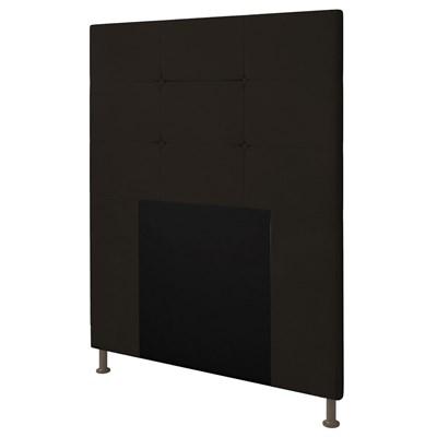Cabeceira Cama Box Solteiro 90cm D10 Safira Suede Marrom - Mpozenato