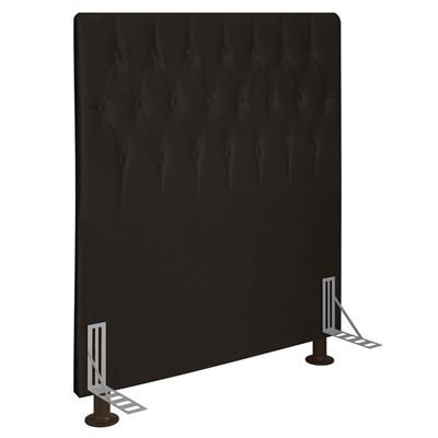Cabeceira Cama Box Solteiro 90cm D10 Topázio Suede Marrom - Mpozenato
