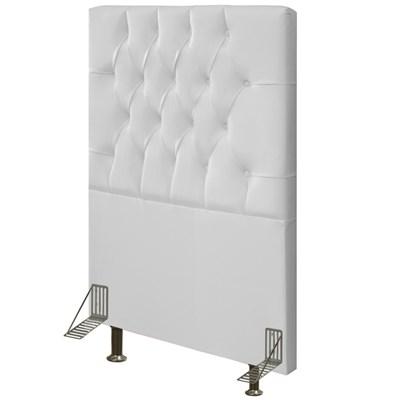 Cabeceira Cama Box Solteiro 90cm Diamante D10 Corano Branco - Mpozenato