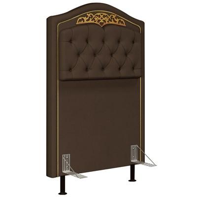 Cabeceira Cama Box Solteiro 90cm Imperial J02 Suede Chocolate - Mpozenato